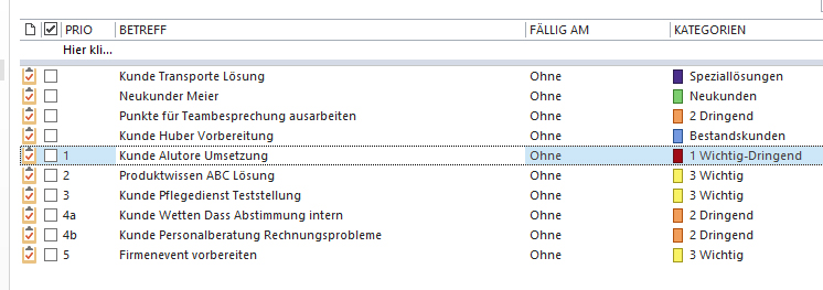 Tagesplanung mit Outlook