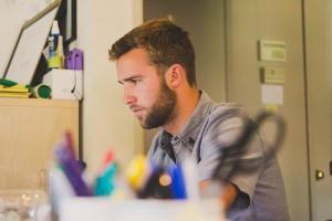 konzentriertes arbeiten